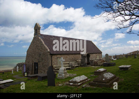 United Kingdom, Wales, Colwyn. St. Tudno church on the Great Orme, Wales. - Stock Photo