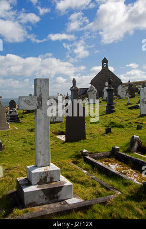 United Kingdom, Wales, Colwyn. St. Tudno churchyard on the Great Orme, Wales. - Stock Photo