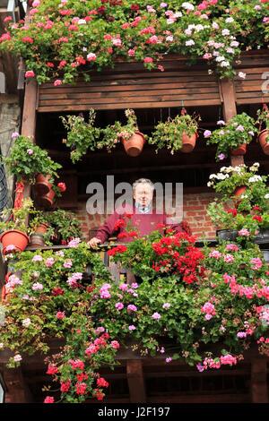 Macedonia, Ohrid, Lake Ohrid, Struga, Village of Vevcani is in the Jablanica Mountains, near to Struga. resident - Stock Photo