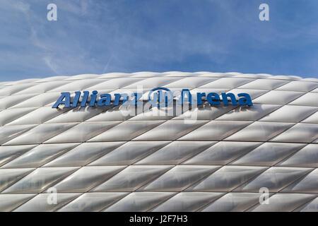 Germany, Bavaria, Munich, Allianz Arena, soccer stadium - Stock Photo