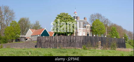 the former island of Schokland in the Northeast polder - Stock Photo