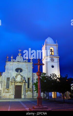 Portugal, Aveiro, Night views of the Aveiro Cathedral, Church of St. Dominic (Igreja de Sao Domingos) - Stock Photo