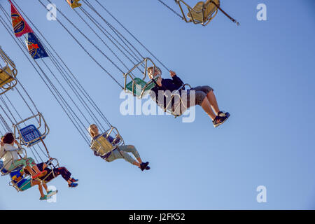 Chair Swing Fairground Ride At Royal Windsor Horse Show Home Park