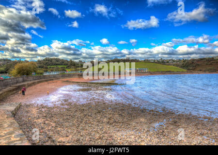 Broadsands beach south of Torquay Devon UK in colourful HDR - Stock Photo