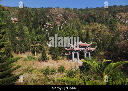 Temple of Nirvana Buddha on Ta Cu mountain Linh Son Truong Tho temple at Phan Thiet, Binh Thuan province, Vietnam - Stock Photo