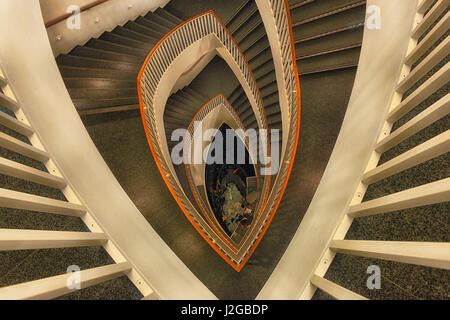 Elegant Graphic Composition Of The Spiral Staircase At The Museum Of Contemporary  Art, Chicago, Illinois