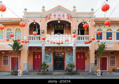GEORGE TOWN, MALAYSIA - MARCH 27: Teoh Kongsi clan house on March 27, 2016 in George Town, Malaysia. - Stock Photo