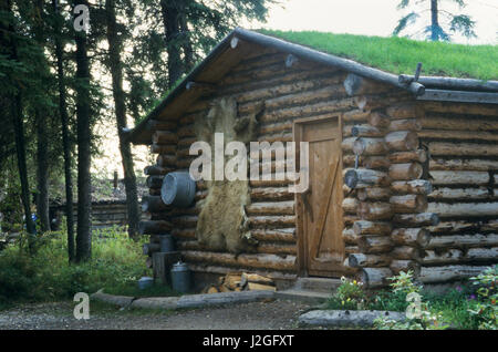Traditional athabascan shelter chena indian village for Indian bear lodge cabins