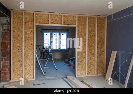 Inside Construction Site, Commercial Building Interior, USA Stock ...