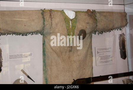 Lieutenant James Mann confiscated this ghost shirt from a Private Eisenberg, who removed it from the body of a Miniconjou - Stock Photo