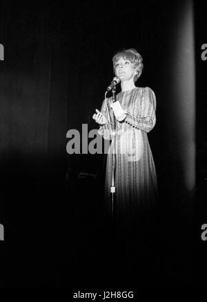 Petula Clark performing at the Paris Olympia Hall in April 1965. Photo André Crudo - Stock Photo