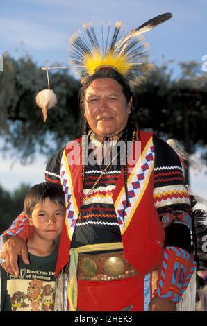 Young Boy In Traditional Regalia Pow Wow Blackfoot