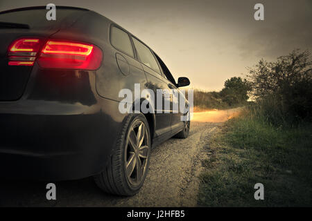 Car from behind - Stock Photo
