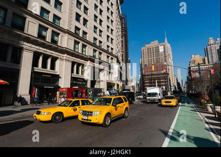 Madison Square, Fifth avenue, New York City, USA. - Stock Photo