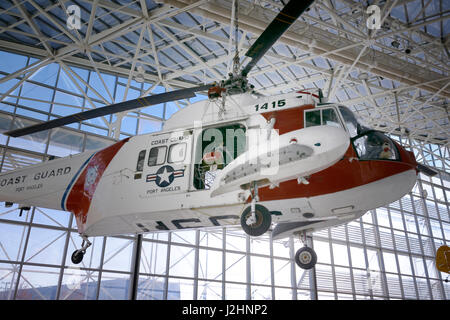 USA, Washington, Seattle. Sikorsky (USA) HH-52 Seaguard, The Museum of Flight. (Large format sizes available) - Stock Photo