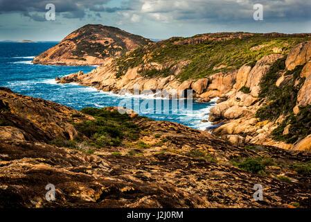 Cliffs near Lucky bay in Cape Le Grand National Park, Western Australia - Stock Photo