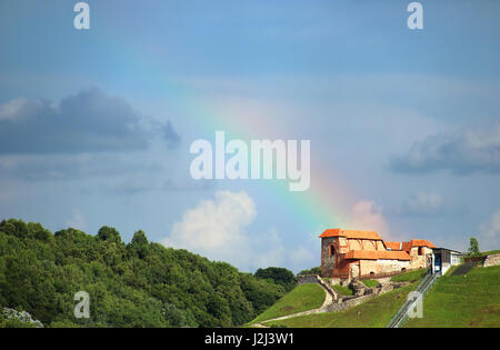 Remains of Upper Castle in Vilnius, Lithuania - Stock Photo
