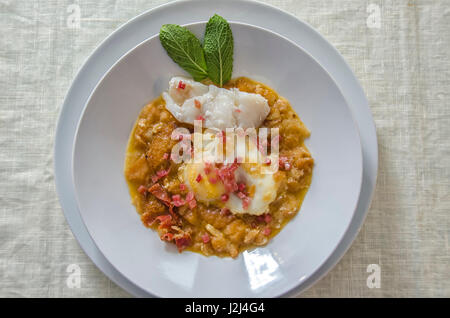 garlic soup - Stock Photo