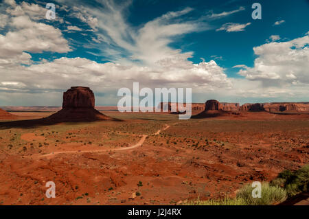 Monument Valley, Arizona, view from visitors center - Stock Photo