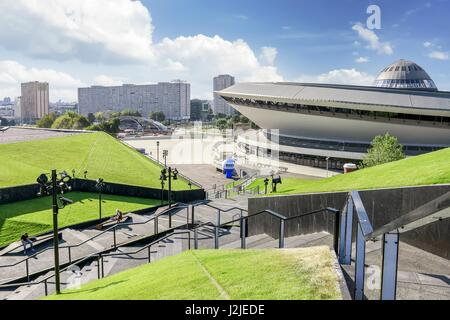 Spodek - a multipurpose arena complex in Katowice, Poland. - Stock Photo