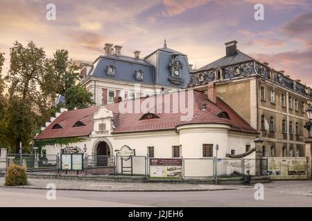 Pless Castle, a classical-style palace in the city of Pszczyna in south-western Poland. - Stock Photo