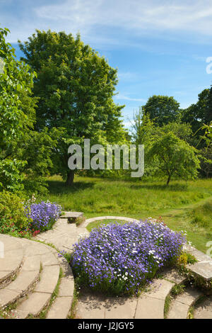 Orchard, Great Dixter Gardens, Northiam, East Sussex, Great Britain - Stock Photo