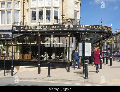 The Montpellier Cafe Bar, otherwise known as Betty's Tea Rooms.  Montpellier district of Harrogate, North Yorkshire, - Stock Photo
