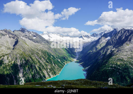 Wonderful view on a colorful glacial lake in the Austrian Alps - Stock Photo