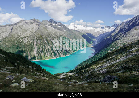 Wonderful view on a stunning glacial lake in the Austrian Alps - Stock Photo