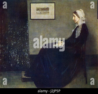 This painting, titled My Mother, was done by the American artist James McNeill Whistler (1834-1903) who was born - Stock Photo