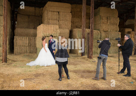 Wedding Videographers with Cameras - Stock Photo