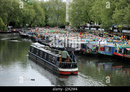 London, UK. 29th Apr, 2017. IWA Canalway Cavalcade is London's biggest, brightest and best waterways festival. This - Stock Photo