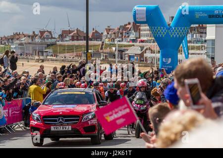 Bridlington, Yorkshire, UK. 28th April, 2017. UK Sport: Bridlington, Yorkshire, UK. 28th April 2017.  Supporters - Stock Photo