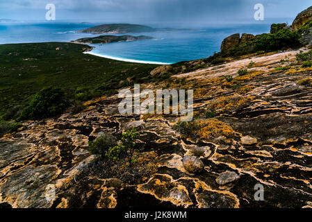View from the top of mt Le Grand in Cape Le Grand National Park, Western Australia - Stock Photo