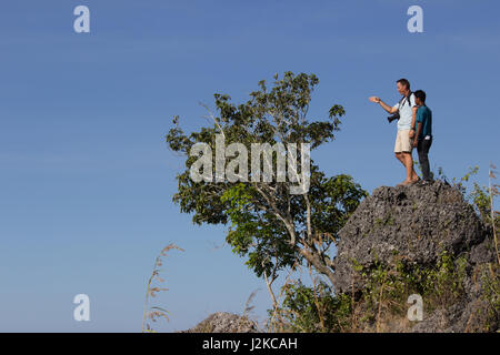 Atauro island, East Timor. A tourist and guide - Stock Photo