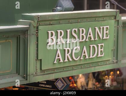 Brisbane Arcade in Brisbane CBD, Queensland, Australia - Stock Photo
