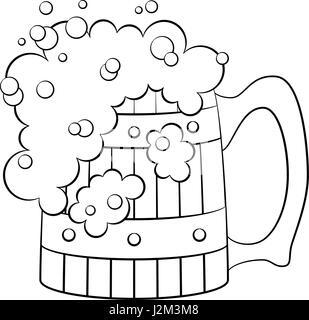 Beer Mug, Isolated - Stock Photo