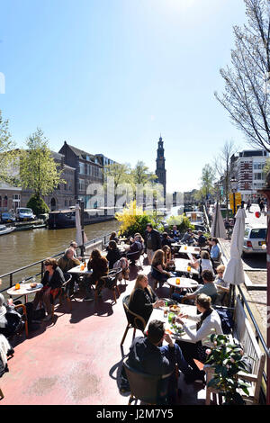 Netherlands, North Holland / Noord-Holland, Amsterdam, 17th century canal ring area inside the Singelgracht, listed - Stock Photo