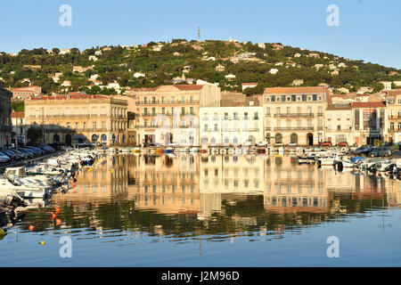 france herault sete canal royal royal canal tuna boat docked at stock photo royalty free. Black Bedroom Furniture Sets. Home Design Ideas