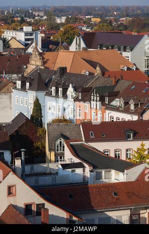 Germany, Rheinland-Pfalz, Speyer, elevated city view - Stock Photo