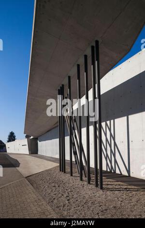 Germany, Baden-Wurttemburg, Weil am Rhein, Vitra Architectural Design Campus, Fire Station, Zaha Hadid, 1993, exterior - Stock Photo