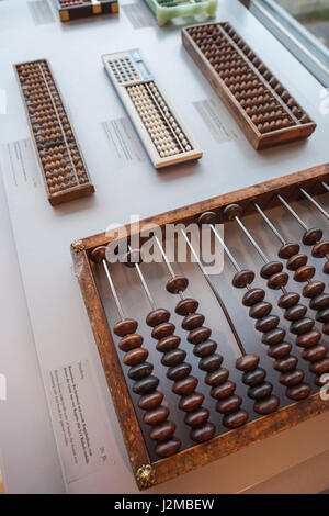 Germany, Nordrhein-Westfalen, Bonn, Arithmeum, museum of technology, science and art, interior, abacus - Stock Photo