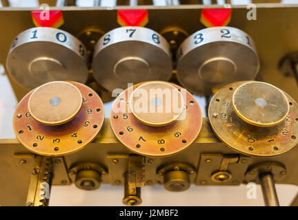 Germany, Nordrhein-Westfalen, Bonn, Arithmeum, museum of technology, science and art, replica of stepped down Leibnitz - Stock Photo