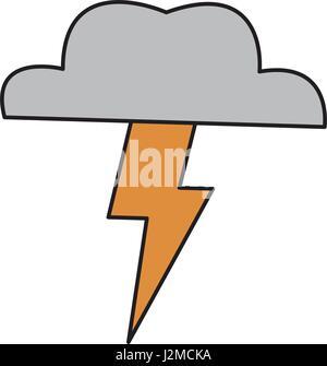 brainstorm cloud lighting creative ideas concept - Stock Photo