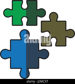 puzzle pieces jigsaw strategy shadow - Stock Photo