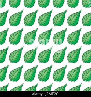 green cute botany leaves background