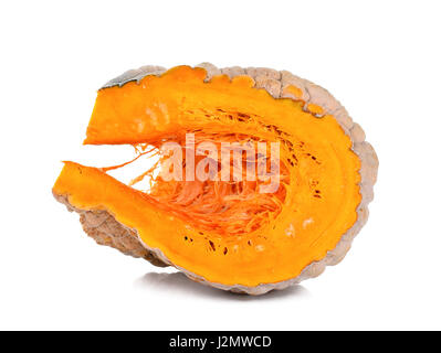 Slice pumpkin isolated on the white background. - Stock Photo