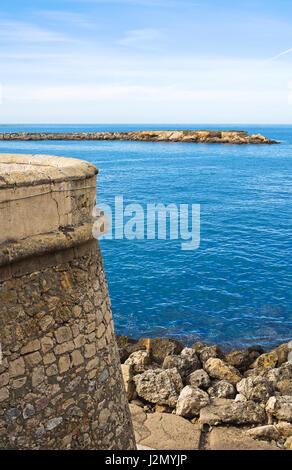 Panoramic view of Gallipoli. Puglia. Italy. - Stock Photo
