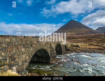 Old Victorian bridge on the Isle of Skye, Scotland - Stock Photo