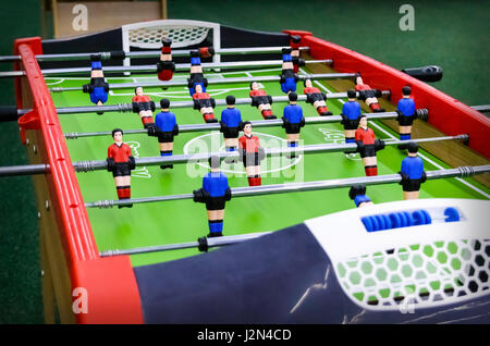Table game with figures - football. Close-up. - Stock Photo